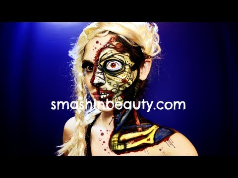Robot Makeup (Advanced Human Robot) Halloween Makeup Tutorial 2014
