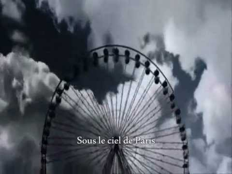 Yves Montand - Sous Le Ciel De Paris  (with lyrics)