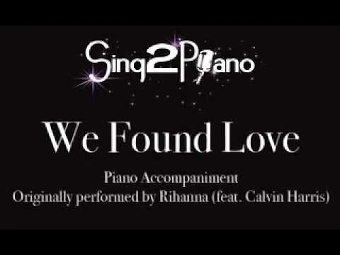 We Found Love - Rihanna (feat. Calvin Harris) Piano backing cover