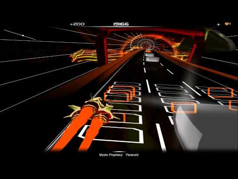 Audiosurf: Metallica and Ozzy Osbourne - Paranoid (Black Sabbath cover)