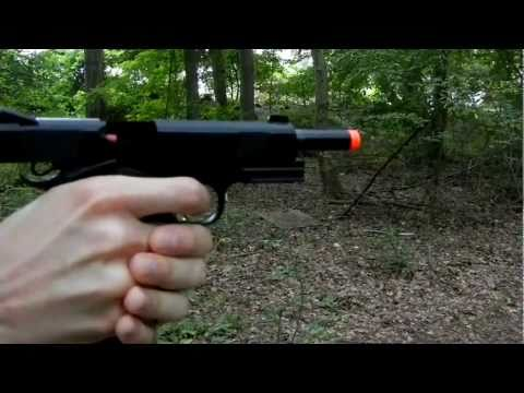 KJW 1911 MEU full metal CO2 blowback review and shooting
