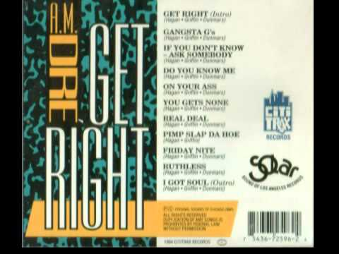 A.M. DRE'  - GET RIGHT (FULL TAPE) 1994