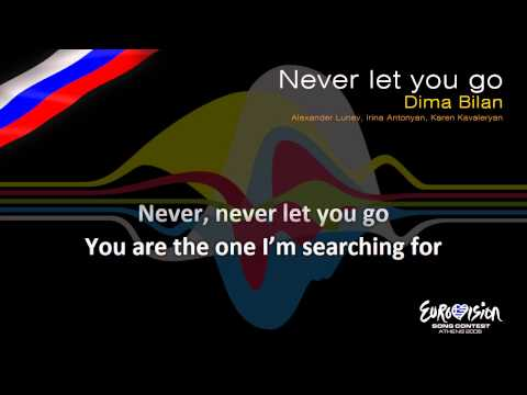 "Dima Bilan - ""Never Let You Go"" (Russia) - [Karaoke version]"