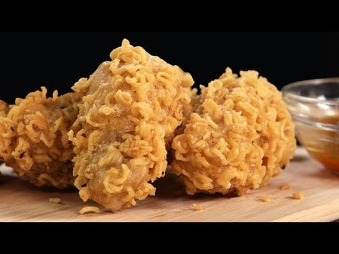 Ramen-Crusted Chicken Wings Recipe | Eat the Trend